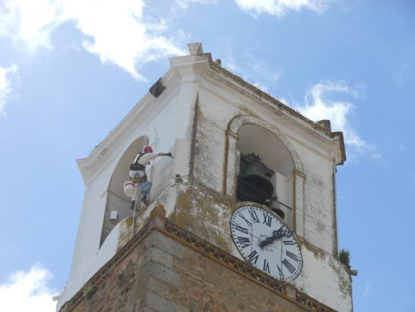 Reparación y pintura de la Torre del Ayuntamiento de Jerez de los Caballeros